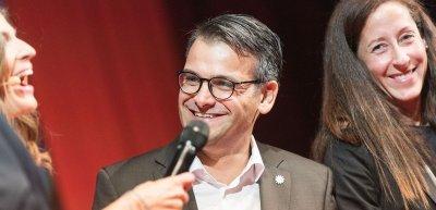 Marcus da Gloria Martins, Polizei München, während der Speakersnight (c) Quadriga Media/Laurin Schmid