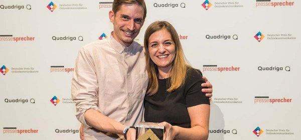 Daniel Klose und Ilka Klingenberg von der Agentur La Red. (c) Laurin Schmid / Quadriga Media