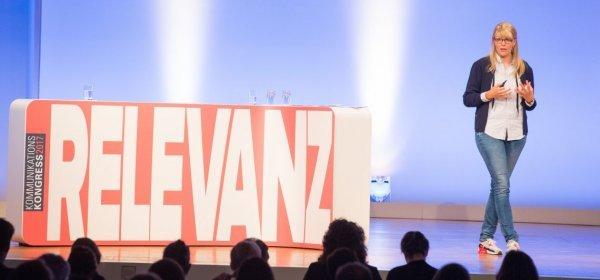 Outfittery-Gründerin Anna Alex hält ihre Keynote auf dem KK17 (c) Jana Legler