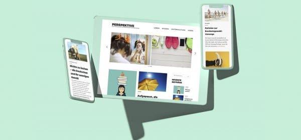 """Das Webmagazin """"Perspektive"""" der Schwenninger Krankenkasse setzt auf authentische Bilder und Inhalte, die nah am Leben der Zielgruppe sind. (c) Communication Consultants GmbH"""