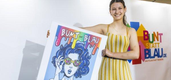 """Selina Dzida gewinnt """"bunt statt blau"""", einen Wettbewerb der DAK gegen das Komasaufen./ Selina Dzida: (c) DAK-Gesundheit/Hahn"""
