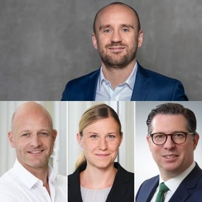 Johannes Gunst (Bild o.), Christian Senft (l.), Julia Sommerfeld (m.), Jorg Keller (r.) (c) Axel Springer