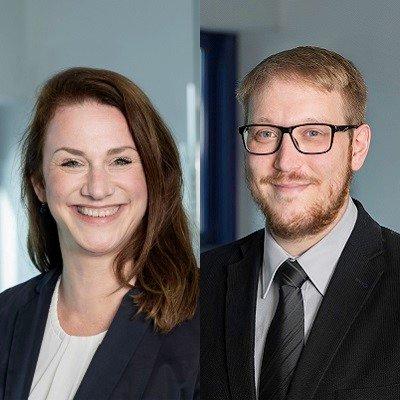 Stefanie Bersin (l.) und Simon Gerich (r.) (c) EBE