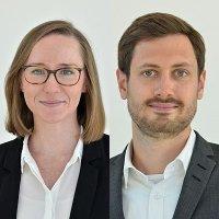 Irina Gaisdörfer (l.) und Robert Leonhardt (r.) (c) DZ Bank